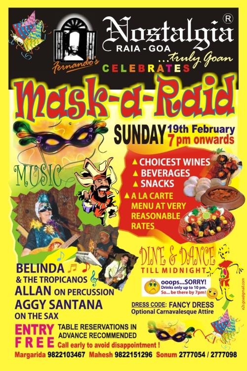 Noltalgia Mask-a-Raid Carnival 2012 Goa